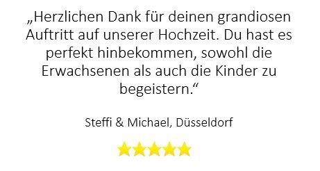 Top-Bewertung für Zaubershow auf Hochzeit in Düsseldorf