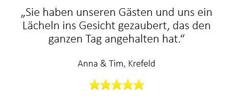 Super Rückmeldung für Zauberer auf Hochzeit in Krefeld