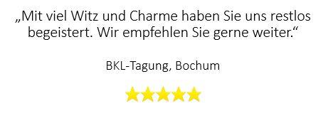 Super Bewertung für Zaubershow in Bochum