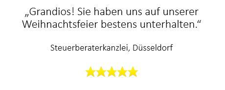 Top-Bewertung für Zauberer auf Weihnachtsfeier in Düsseldorf